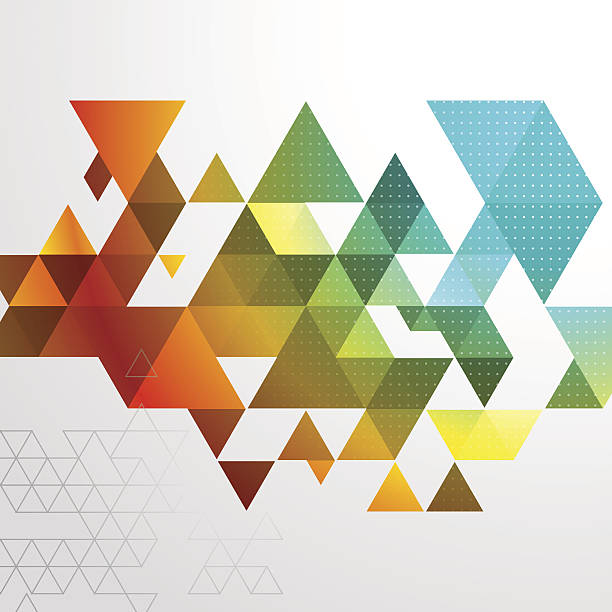 Abstract Triangle BG vector art illustration