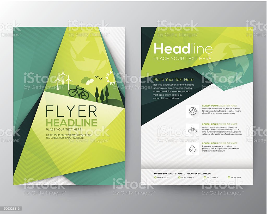 Abstract Triangle Flyer design template vector art illustration