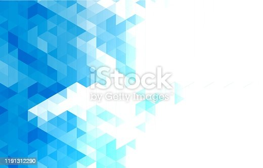 istock Abstract Triangle Geometric Background 1191312290