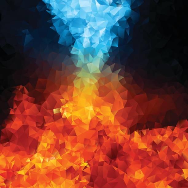 illustrazioni stock, clip art, cartoni animati e icone di tendenza di abstract triangle geometrical multicolored background, vector illustration eps10 - ice on fire