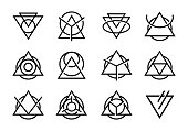 Abstract Triangle Icon Design collections
