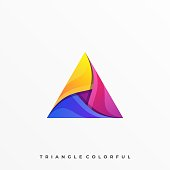 Abstract Triangle Illustration Vector Template. Suitable for Creative Industry, Multimedia, entertainment, Educations, Shop, and any related business.