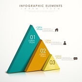 modern vector abstract colorful triangle infographic elements
