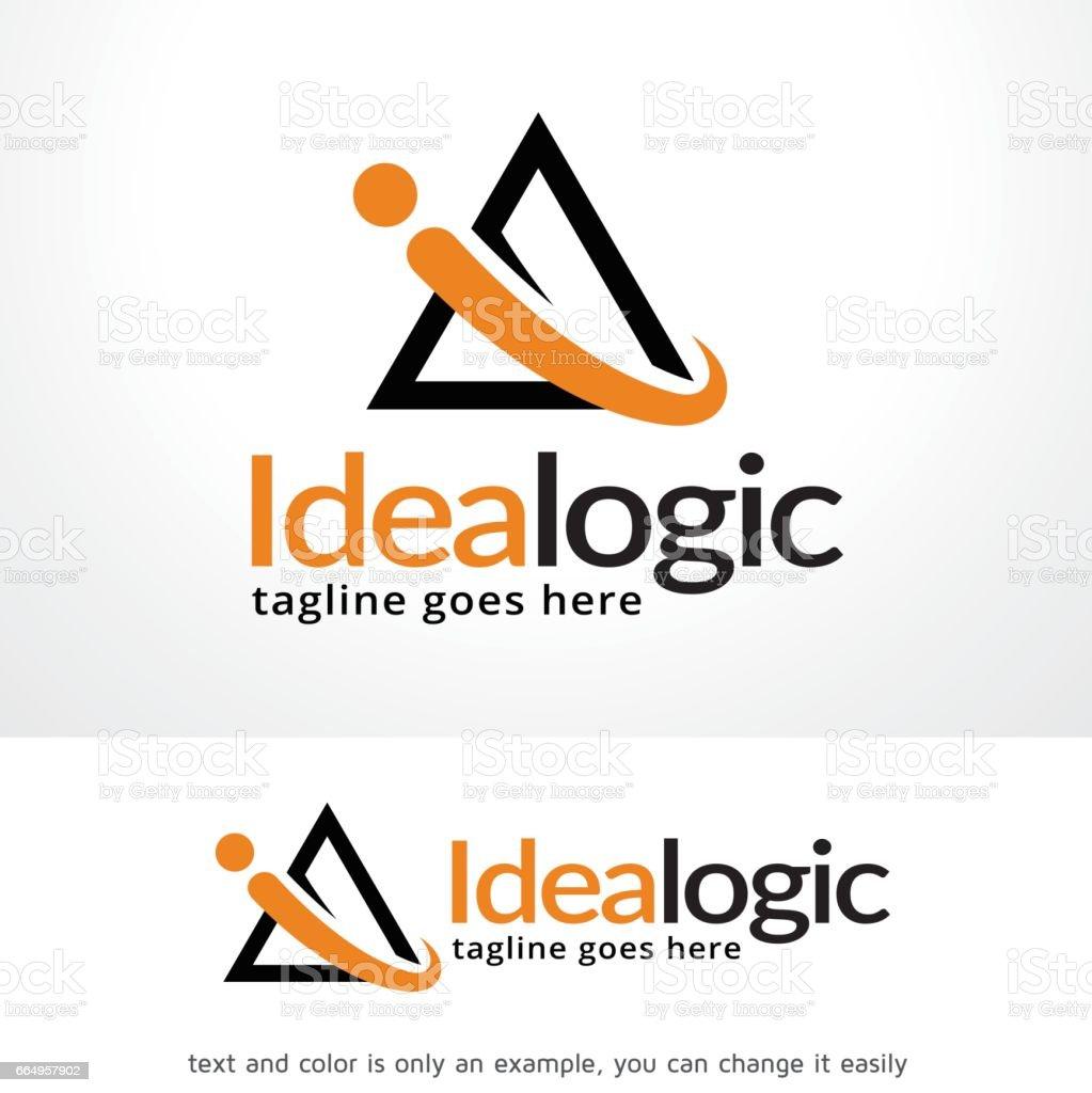 Ilustración de Triángulo Abstracto De La Letra I Idea Símbolo ...