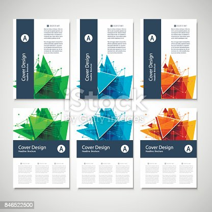 909923870istockphoto Abstract Triangle line. Poster Brochure Flyer design Layout vector template in A4 size 846522500