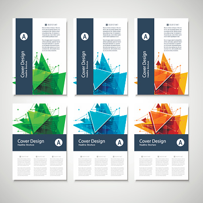 909923870 istock photo Abstract Triangle line. Poster Brochure Flyer design Layout vector template in A4 size 846522500