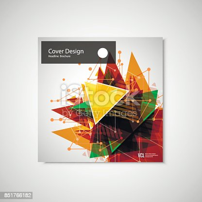 909923870istockphoto Abstract Triangle line. Poster Brochure Flyer design Layout vector template in A4 size 851766182