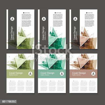 909923870istockphoto Abstract Triangle line. Poster Brochure Flyer design Layout vector template in A4 size 851766352