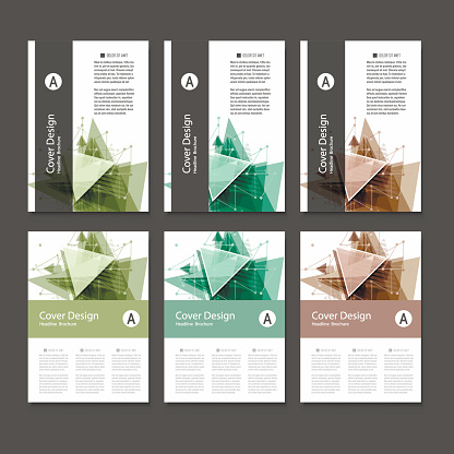 909923870 istock photo Abstract Triangle line. Poster Brochure Flyer design Layout vector template in A4 size 851766352