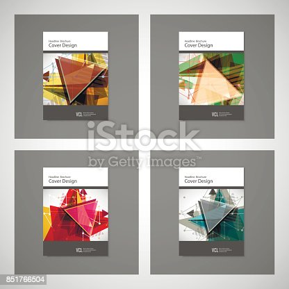 909923870istockphoto Abstract Triangle line. Poster Brochure Flyer design Layout vector template in A4 size 851766504
