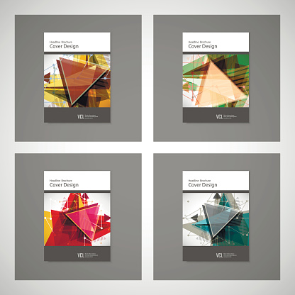 909923870 istock photo Abstract Triangle line. Poster Brochure Flyer design Layout vector template in A4 size 851766504