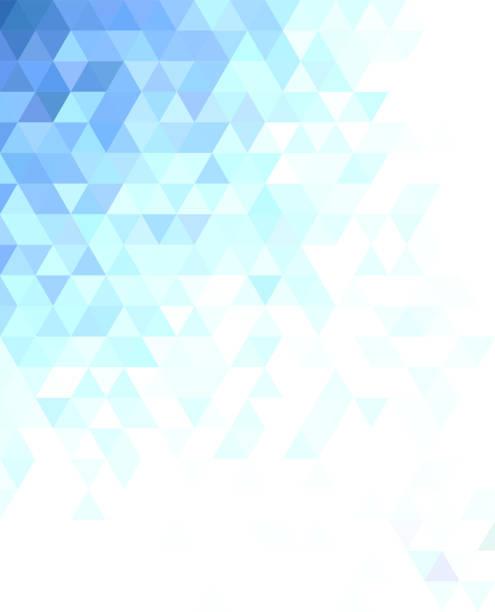 추상 삼각형 모자이크 배경 디자인 - 기하 stock illustrations
