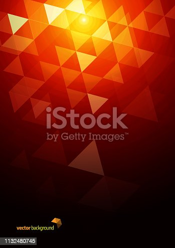 Image of Abstract triangle mosaic background. EPS Ai 10 file format.