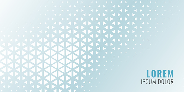 abstract triangle pattern banner design