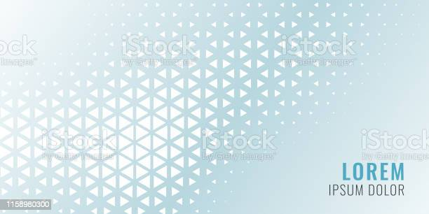 Abstract Triangle Pattern Banner Design - Arte vetorial de stock e mais imagens de Abstrato
