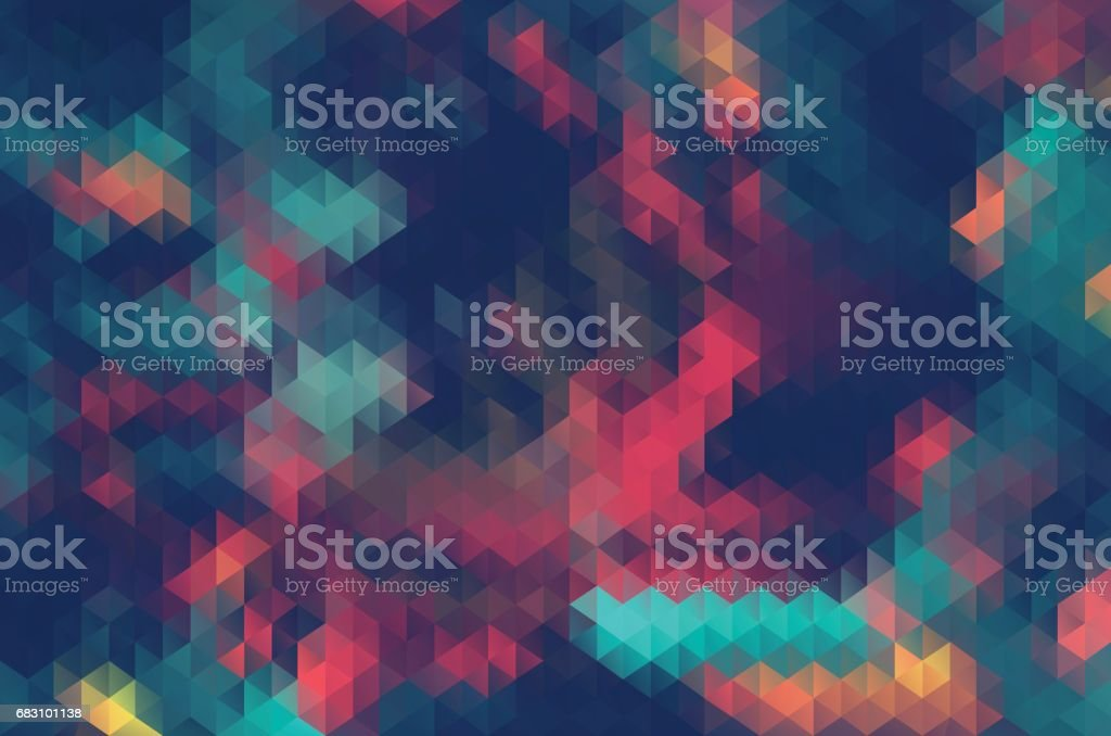 Abstract triangle retrocolor geometric background - ilustración de arte vectorial