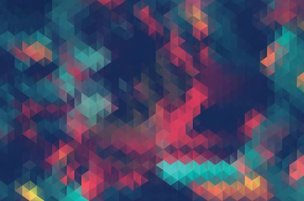 abstract triangle retrocolor geometric background - abstract backgrounds stock illustrations, clip art, cartoons, & icons