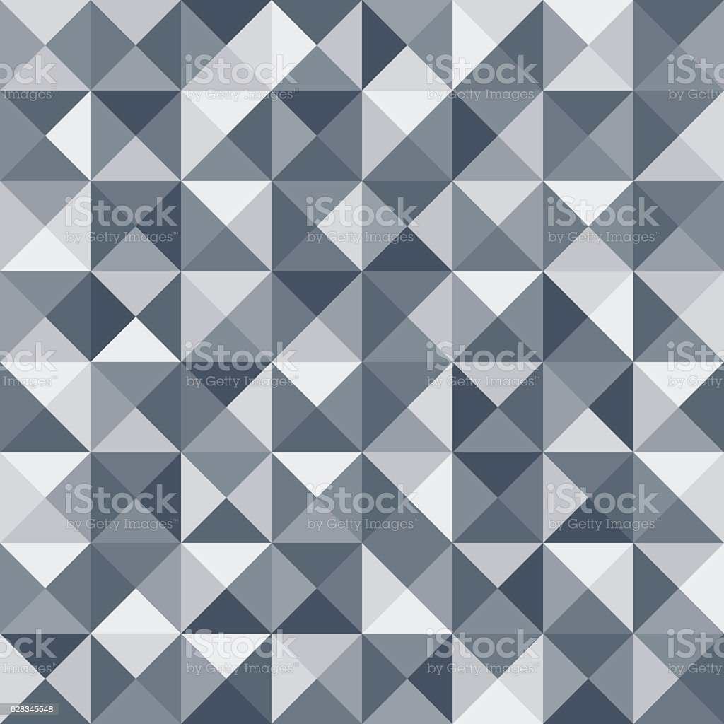 Abstract triangle seamless pattern. Vector vector art illustration