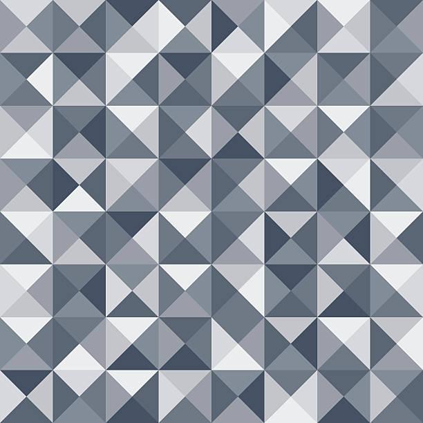 abstract triangle seamless pattern. vector - mosaikböden stock-grafiken, -clipart, -cartoons und -symbole