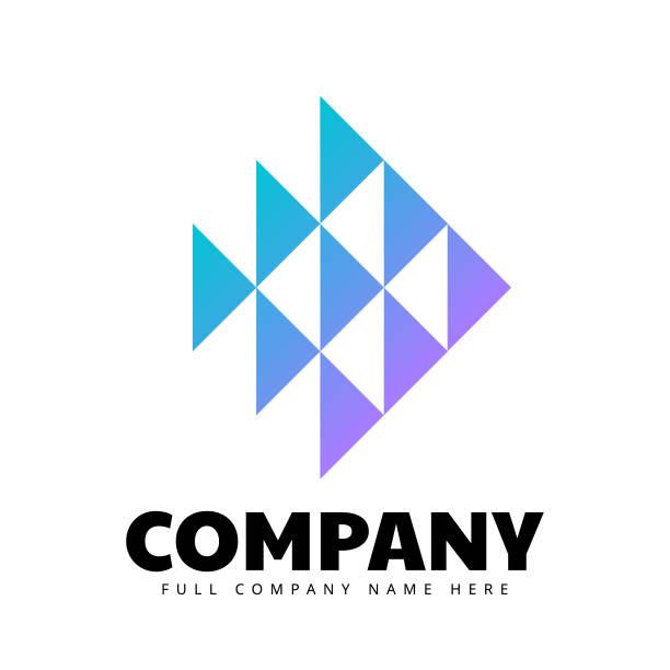 Abstract Triangle shape Logo sign vector art illustration