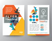 Abstract Triangle shape Poster Brochure Flyer design Layout