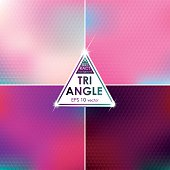 istock Abstract Triangle shaped backgrounds set Pink-Blue Palette 616866896