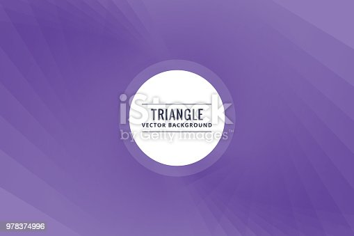 624878906istockphoto Abstract triangle shapes purple background 978374996