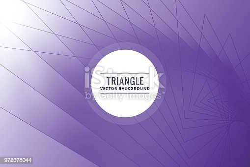 624878906 istock photo Abstract triangle shapes purple background 978375044