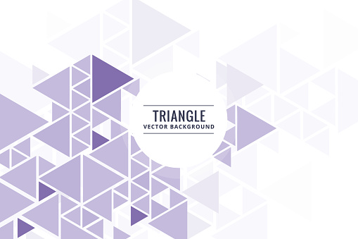 624878906 istock photo Abstract triangle shapes purple background 978375070