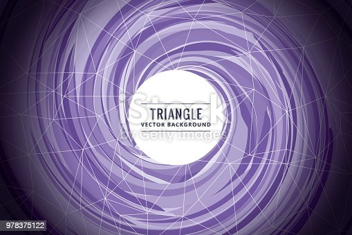 624878906istockphoto Abstract triangle shapes purple background 978375122