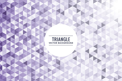 624878906 istock photo Abstract triangle shapes purple background 978378298