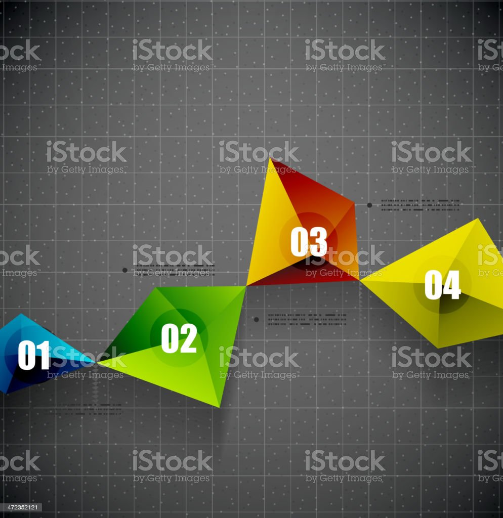 Abstract triangles background royalty-free abstract triangles background stock vector art & more images of abstract