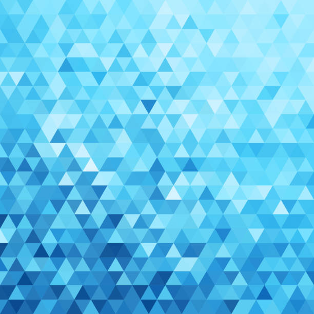 abstract triangles pattern background - eps10 vector - blue designs stock illustrations