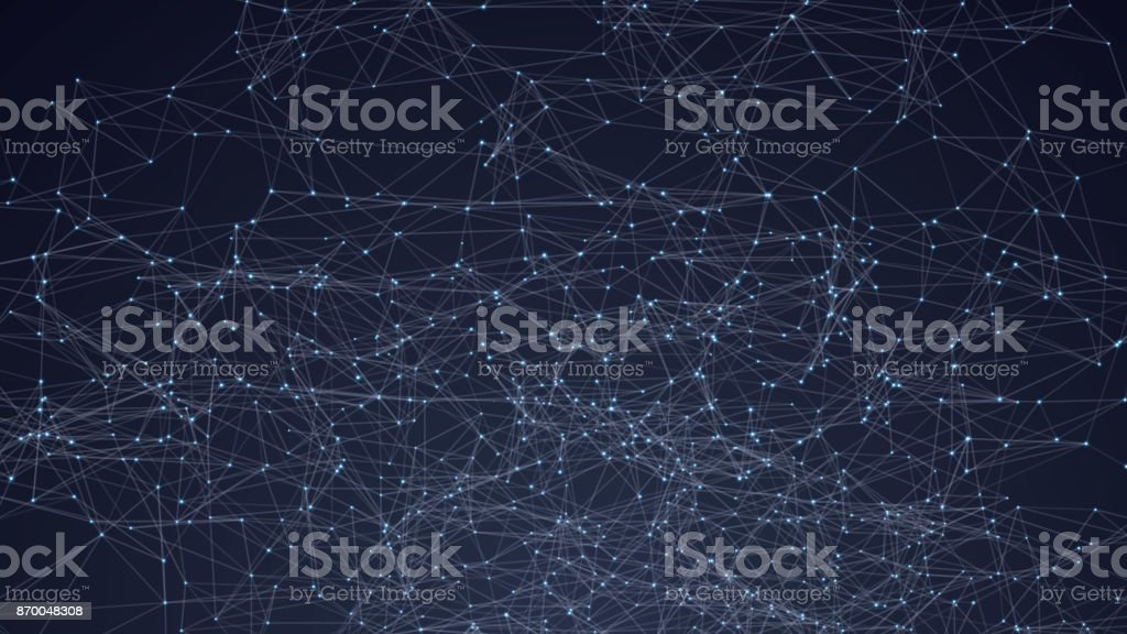 Abstract triangles space low poly. Dark background with connecting dots and lines. Light connection structure. Polygonal vector background. Futuristic HUD. vector art illustration