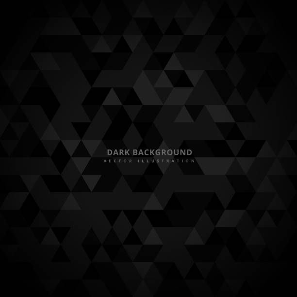 abstract trianglulated dark background vector art illustration