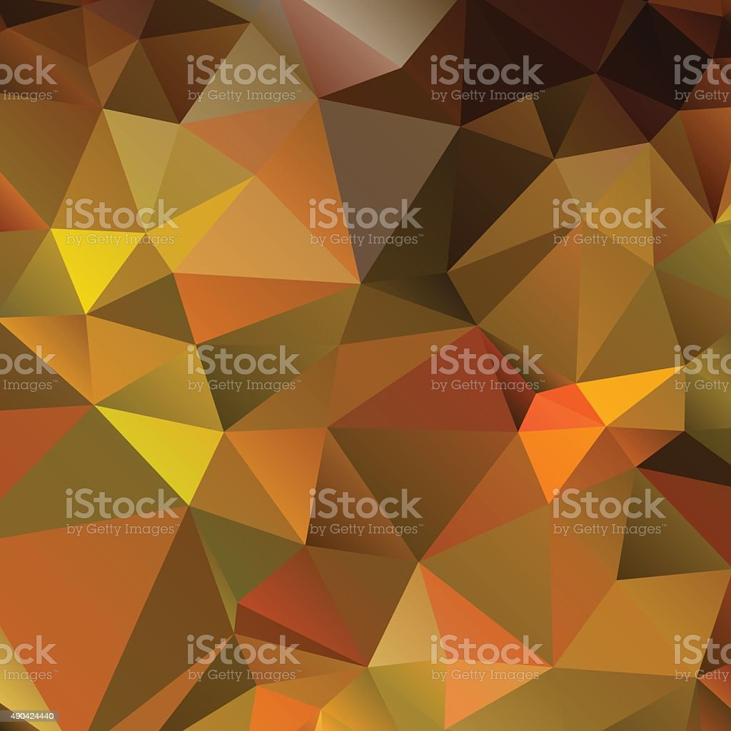 Abstract triangular background in autumn colors. vector art illustration