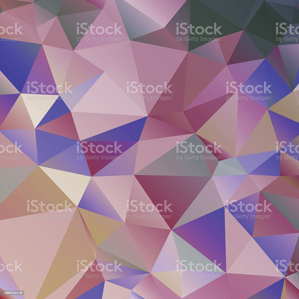 Abstract triangular background in blue and violet colors. vector art illustration