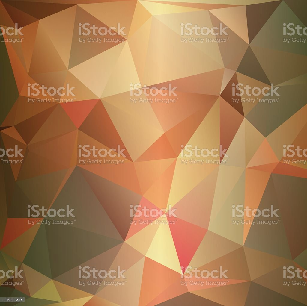 Abstract triangular background in pastel colors. vector art illustration