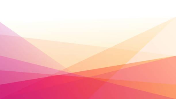 bildbanksillustrationer, clip art samt tecknat material och ikoner med abstrakt trekantig bakgrund - rosa bakgrund