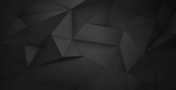 Abstract Triangular Background Layered illustration of abstract dark background. Easy to edit black color stock illustrations