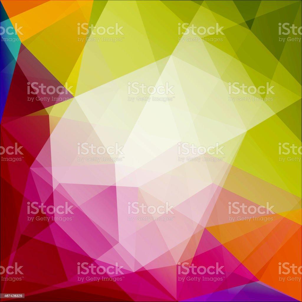 Abstract triangular fragmentation in various colors vector art illustration