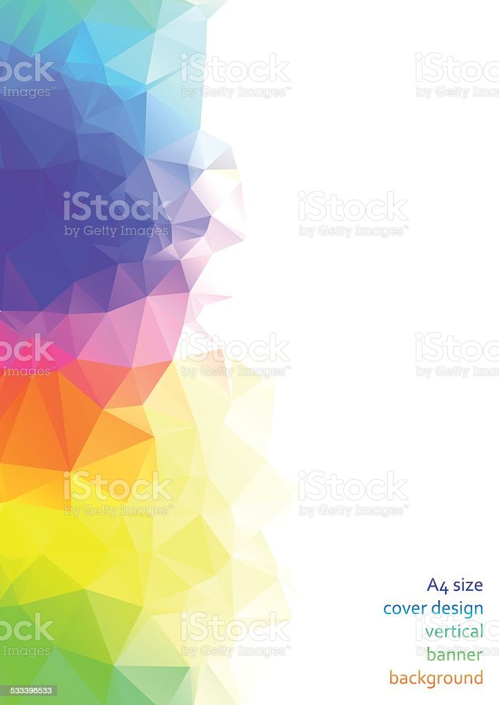 Abstract triangular & polygonal colorful background vector art illustration