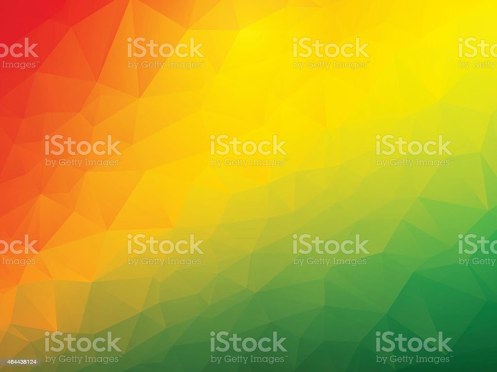 abstract triangular red yellow green background vector art illustration