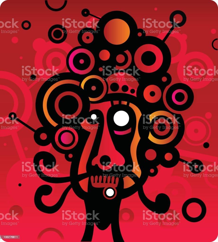 Abstract Tribal Art royalty-free stock vector art