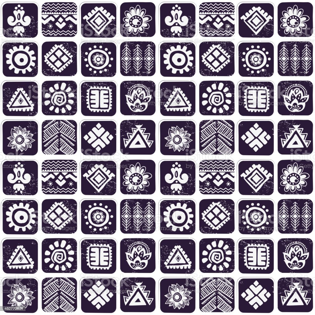 Abstract tribal pattern royalty-free abstract tribal pattern stock vector art & more images of abstract