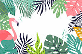 Abstract tropical banner