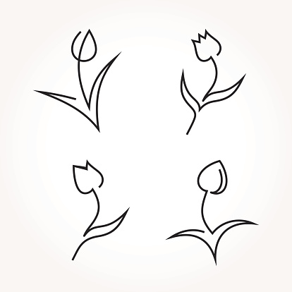 Abstract tulip icons