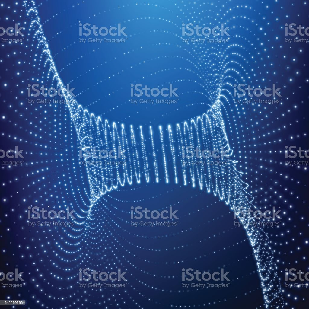 Abstract Tunnel Grid. Futuristic Technology Style. vector art illustration
