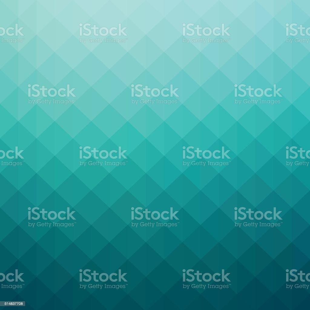 Gradiente de cor turquesa abstrato arte geométrico fundo - ilustração de arte em vetor