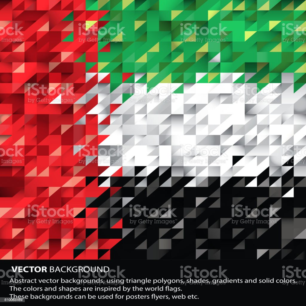 Abstract UAE Background, United Arab Emirates Flag (Vector Art) vector art illustration